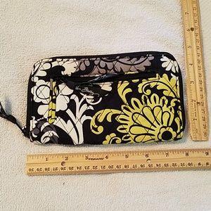 Vera Bradley quilted clutch